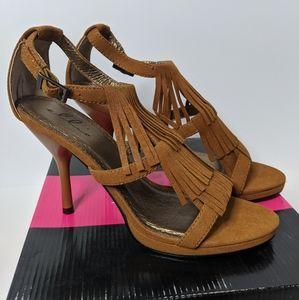 Ellie Sioux Fringe Heeled Sandals